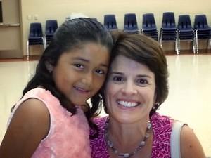 Ana, with her student, Esmerelda
